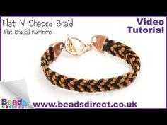Kumihimo Flat V Pattern Bracelet   Flat Kumihimo Braid on Round Board - YouTube