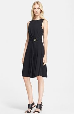 Versace Collection Sleeveless Drape Front Jersey Dress available at #Nordstrom