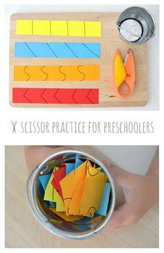 Práctica de tijera para niños en edad preescolar ... Una de esas actividades mágicas que cautivan a los jóvenes!