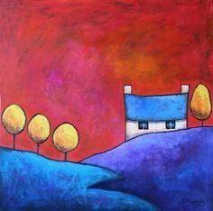 gillian mowbray | Gillian Mowbray ~** | Art: Huizen | Pinterest