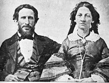 James F. and Margret Reed of the Donner Party. Oct.1846, Reed had a quarrel with teamsters and stabbed one of them to death. He was then banished from the wagon train. Leaving his family, he traveled alone for 22 days to Sutter's Fort. February 1847 a rescue party was sent. Reed was returning with some emigrants from the camp, when another blizzard trapped them for 2 days.