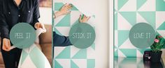 Chasing Paper - temporary, changeable, re-stickable wallpaper.