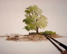 How to paint trees, watercolor free lesson