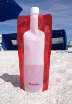 wine2go flask... Fits a whole bottle & no worries of breaking...