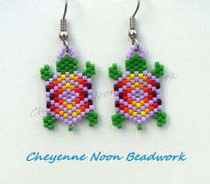 Native American Beaded Earrings Brick Stitch by CheyenneNoon