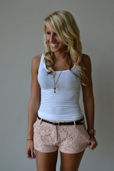 Sweet Lace Shorts $35 - i want them! love the color