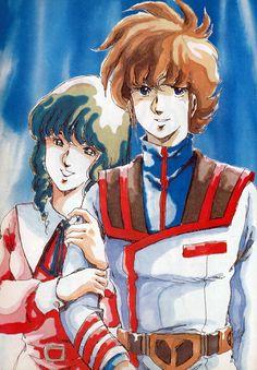 Minmay and Hikaru from Macross
