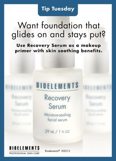 Recovery Serum makes a great #makeup primer for sensitive skin!