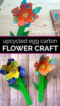 Learn how to make cute spring flowers in this upcycled egg carton craft for kids. Instead of recycling your cartons, try this fun and easy DIY activity for toddlers and preschoolers this spring or summer. Rainy Day Crafts, Summer Crafts For Kids, Spring Crafts, Summer Fun, Easter Eggs Kids, Spring Allergies, Egg Carton Crafts, Green Craft, Crafts To Do