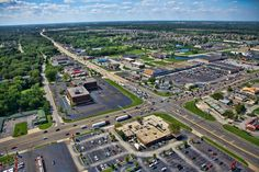 Aerial photo of Schererville, Indiana at US 30 and US 41.  I grew up in a beautiful woods here in the 40's & 50's.
