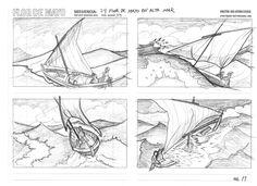 Story Board de la mini serie FLOR DE MAYO de Jose Antonio Escrivá