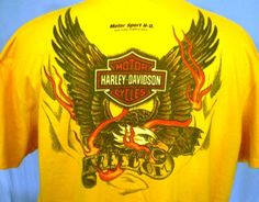 Harley-Davidson Yellow 2XL Pocket T-Shirt San Juan Puerto Rico Cotton #HarleyDavidson