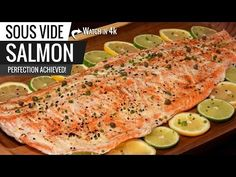 By far the best salmon we all ever had. I smoked this salmon and sous vide after, the seasoning was amazing and the flavor of this fish was incredible. The video . Sous Vide Salmon Recipes, Sous Vide Immersion Circulator, Food Reviews, Dining Room Table, Cooking Tips, Seafood, The Best, Fish, Ethnic Recipes