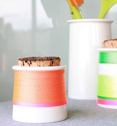 Neon string to jazz up a plain vase @GloMSN http://glo.msn.com/living/hottest-trends-in-diy-8080.gallery