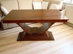 Rasowy Ponadczasowy Stół Ława Art Deco Orzech