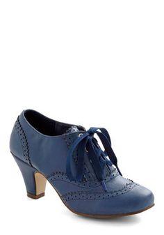 Dance Instead of Walking Heel in Blue, #ModCloth...Love the blue.