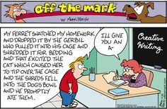 """Creative Writing...    - """"Off the Mark"""" by Mark Parisi;  9/23/12"""
