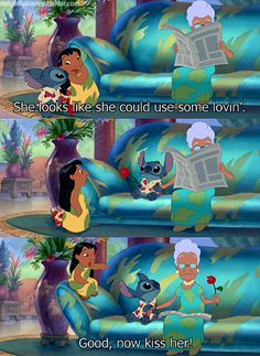 Lilo and Stitch...One of my favorite parts!!! (: