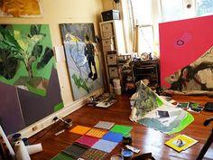 Beautiful painter's studio. Deborah Carroll Anzinger of Washington, D.C.