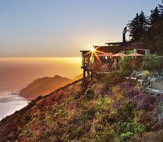 Sierra Mar at sunset from the Post-Ranch-Inn, Big Sur, California, USA. Image copyright: Post Ranch Inn, via Flickr.