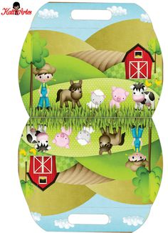 Oh My Fiesta! in english Farm Animal Party, Farm Animal Birthday, Barnyard Party, Farm Party, Paper Toys, Paper Crafts, Kit Scrapbook, Scrapbooking, Paper Box Template