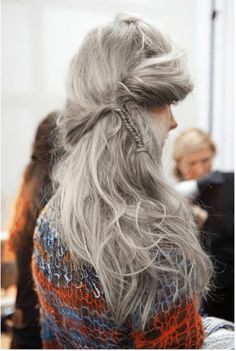 Silver White Hair Styles   Not Your Grandma's: White & Silver Hair   Style, babyy