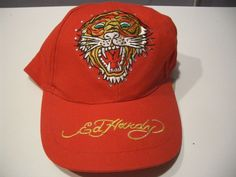 ED HARDY RED TIGER EMBROIDERY BEADED BASEBALL HAT ADJUSTABLE BACK NWT   fashion  clothing  shoes  accessories  mensaccessories  hats (ebay link) bb0851d555d9