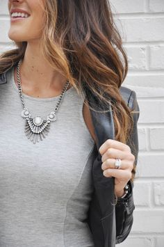 @forever21 necklace ($9!) + hair color