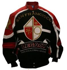 San Francisco 49ers Stylish Jacket with the niners logo and design on the back