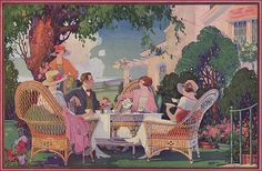 1926 Valspar Lacquer Ad - Illustration