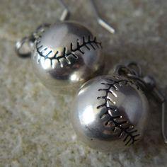 Cute Baseball Earrings by WireNWhimsy on Etsy, $10.00