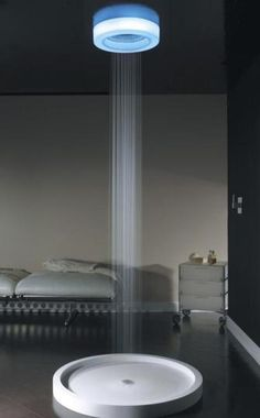 Shower head with LED light.