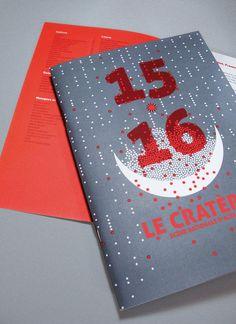 Brochure 15-16 — Le Cratère, scène nationale d'Alès, 2015. Graphic design › duofluo