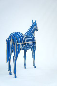 Blue Horse - CNC cut, Sunghyun An