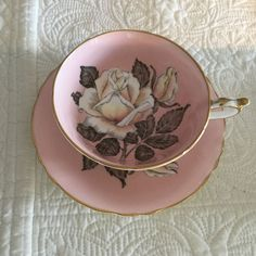 Fabulous Paragon Cup and Saucer Pink with A Large Rose | eBay