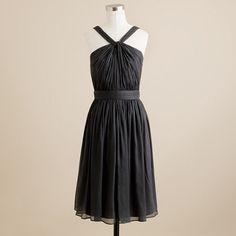 Charcoal silk chiffon dress from J.Crew