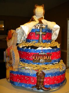 Western Theme Diaper Cake