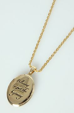 """Disney Couture Locket """"Believing is just the beginning"""" <3"""