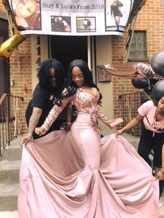 Popular Rose Pink Sequins Mermaid V-Neck Long Sleeves Prom Dresses with Court Girls Graduation Dresses, Black Girl Prom Dresses, African Prom Dresses, Cute Prom Dresses, Prom Dresses Long With Sleeves, Prom Outfits, Black Prom, Beautiful Prom Dresses, Homecoming Dresses