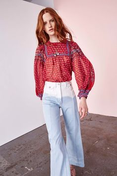 Ulla Johnson Resort 2017 Fashion Show Collection: See the complete Ulla Johnson Resort 2017 collection. Look 2 Cruise Fashion, Fashion 2017, Boho Fashion, Fashion Show, Fashion Design, Fashion Trends, Chic Summer Outfits, Kick Flare Jeans, Look Boho