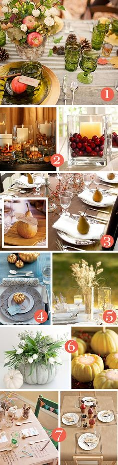 Oh So Lovely: Entertaining Made Lovely: Setting the Thanksgiving Table Thanksgiving Table Settings, Diy Thanksgiving, Thanksgiving Tablescapes, Thanksgiving Decorations, Holiday Decorations, Kid Table, Fall Table, Christmas On A Budget, Holiday Fun