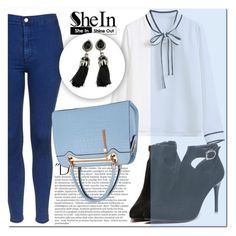 """SHEIN #1"" by mini-kitty ❤ liked on Polyvore featuring Topshop, Balmain, Relaxfeel and shein"