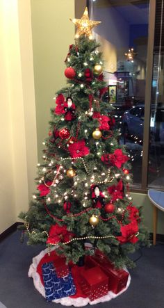 Aurora City Place Branch 2013 Christmas Tree Decorations, Aurora, City, Northern Lights, Cities