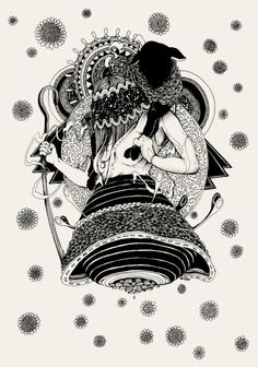 Ink on paper, a small commissioned drawing for local Grand Rapids boutique, Lamb.