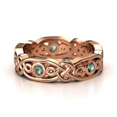 Alexandrite and Rose Gold Celtic Knot Ring