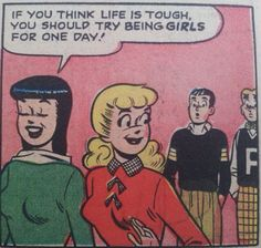 Feminist comment from 50's comic strip