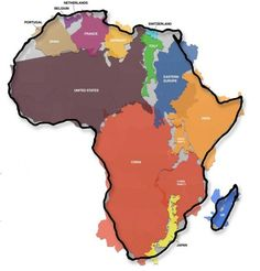 Africa is big. But did you realize exactly how big? | This Graphic Of Africa's Actual Size Will Blow Your Mind