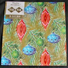 beautiful vintage Christmas wrapping paper....unused..