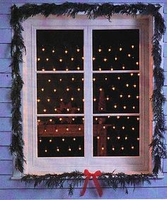 cool idea for Christmas lights Front window Christmas Is Coming, All Things Christmas, Winter Christmas, Christmas Lights, Christmas Holidays, Christmas Decorations, Xmas, Christmas Fairy, Christmas Ideas