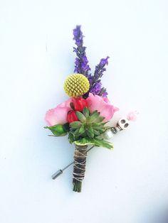 #boutonnier de #solapa con flores naturales para novio #bohemio y #romantico